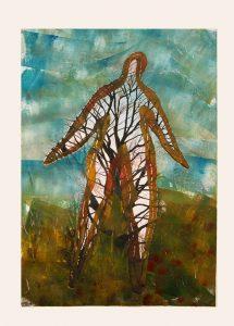 Tree Figure, 2016. Digital etching monotype, 48cm X 33cm. Edition variable 10.