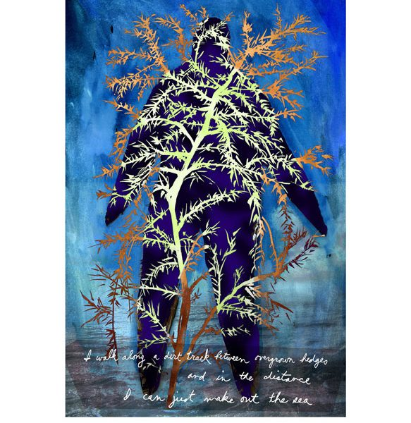Tree Man, archival digital print. 29cm X 19cm.